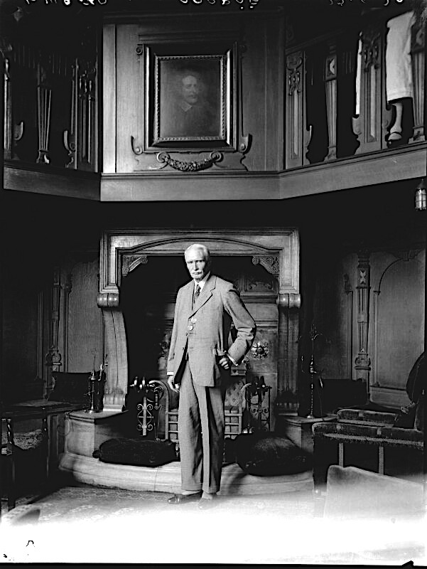 'William Douglas ('W.D.') Caröe' by Lafayette (Lafayette Ltd) whole-plate film negative, 27 June 1930. [Source, National Portrait Gallery, London. Ref: NPG x70476]