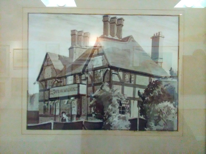 The Stag and Hounds public house, Bury Street. Ink-wash by B.A.W (1947). Enfield Museums Service (Be504)