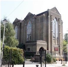St Benet and All Saints church, Kentish Town, London; west end, c2016. [Source: londonremembers.com]
