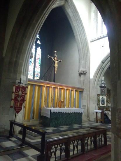 High altar at St Matthias Stoke Newington, London N16.