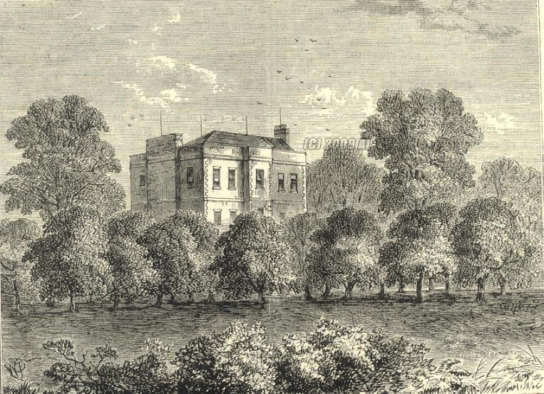Engraving of Elm Lodge