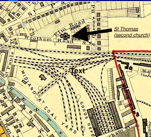 Location of the second church of St Thmas, NW1