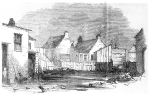 Housing in Agar Town c.1855