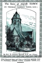 """St Thomas, Wrotham Road, NW1. [Source: """"The story of Agar Town : the ecclesiastical parish of St. Thomas', Camden Town"""" MORRELL, R. Conyers (London: the author, 1935)"""