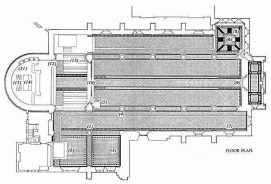 St Peter's church Vauxhall, south London, 1864; ground plan
