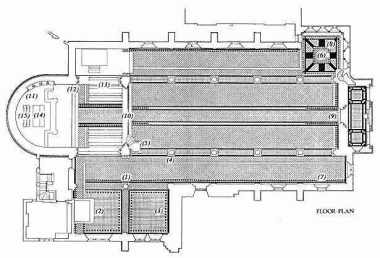 St Peter's church Vauxhall, south London, 1864; ground plan