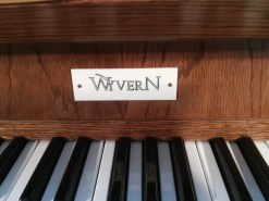 Name plate on the Wyvern electronic organ at St Benet's Kentish Town.