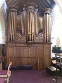St Margaret's, Barking, original organ-case front (1770), now the organ's west facade
