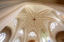 St Bartholomew the Less, roof of the octagonal nave, m c.2000.