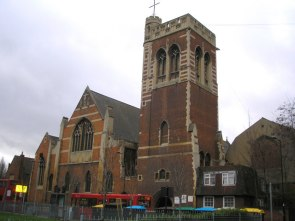 St Mary-of-Eton church (1890), London E9, from the north east c.2000