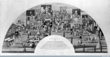 St Bartholomew Fair, 1721, design for a fan.