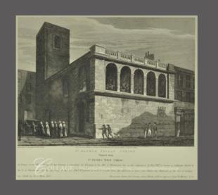 John Coney. 'St Matthew's Church, Friday Street', Engr. T Skelton (1814). Source: City of London TA 31332
