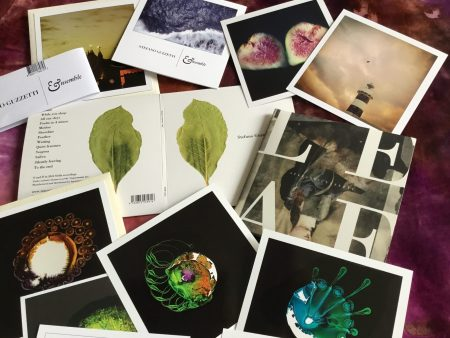 Collection of Stefano Guzzetti's CD's Featuring Handmade Japanese-inspired Sleeves & Artwork.