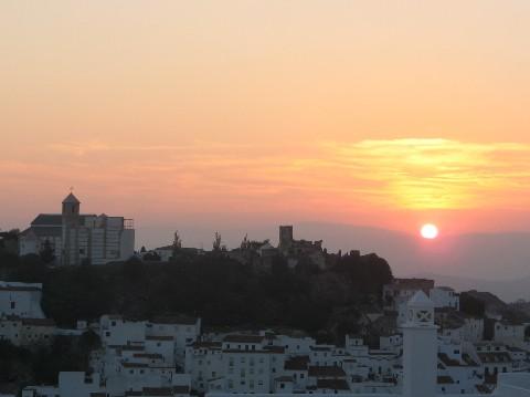 casares-church-castle-at-sunset