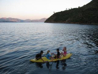 Turkey Sailing Four Kids in Kayak
