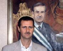 Syria Succession. Andrew Spath research. Bashar in front of Hafez.