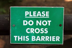 Do not cross this barrier image