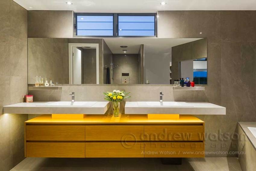 Image of award winning bathroom in Cairns waterfront residence