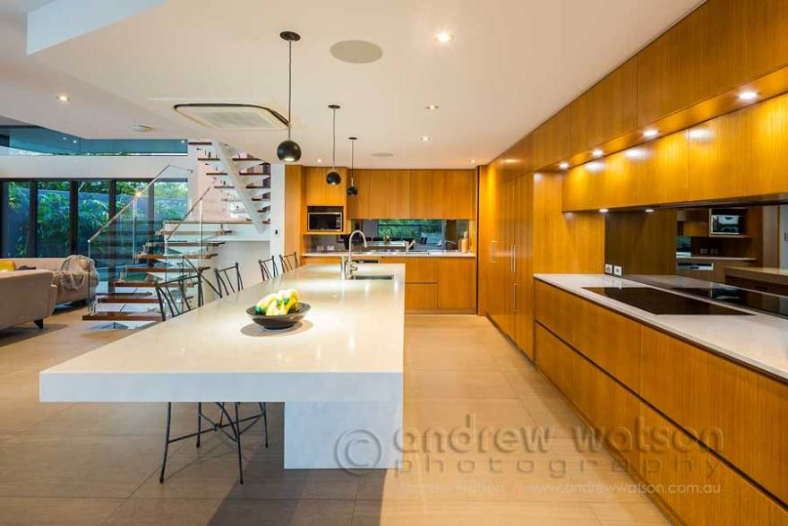 Image of residential kitchen in award winning waterfront home
