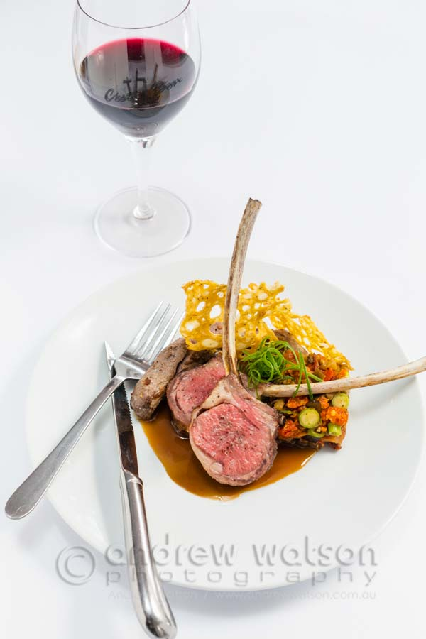 Image of a French inspired lamb rack and thyme jus