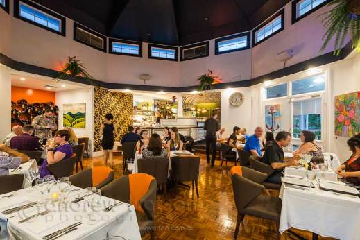 Image of dining room in French restaurant filled with diners