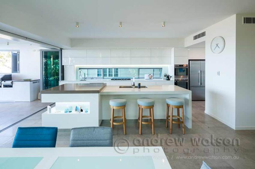 Interior image of kitchen in beachfront home