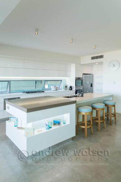 Interior image of kitchen in architectural-designed home