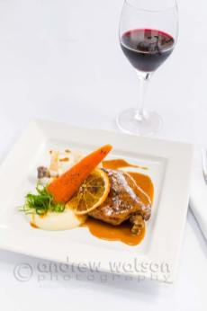 Image of French-style Confit duck leg with parsnip puree