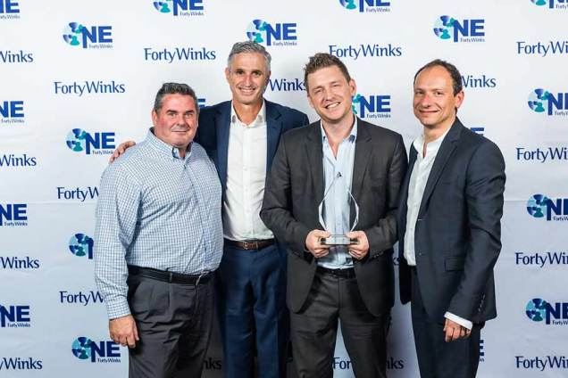 Image of award winners at Forty Winks National Conference Gala Dinner