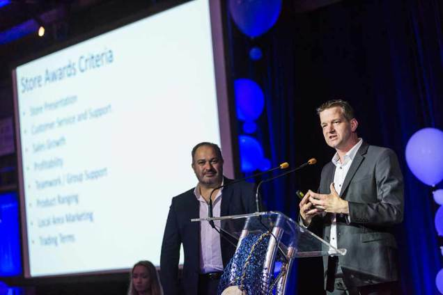 Image of awards presentations at Forty Winks National Conference Gala Dinner