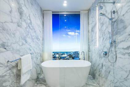 Image of Nova City Cairns display suite bathroom