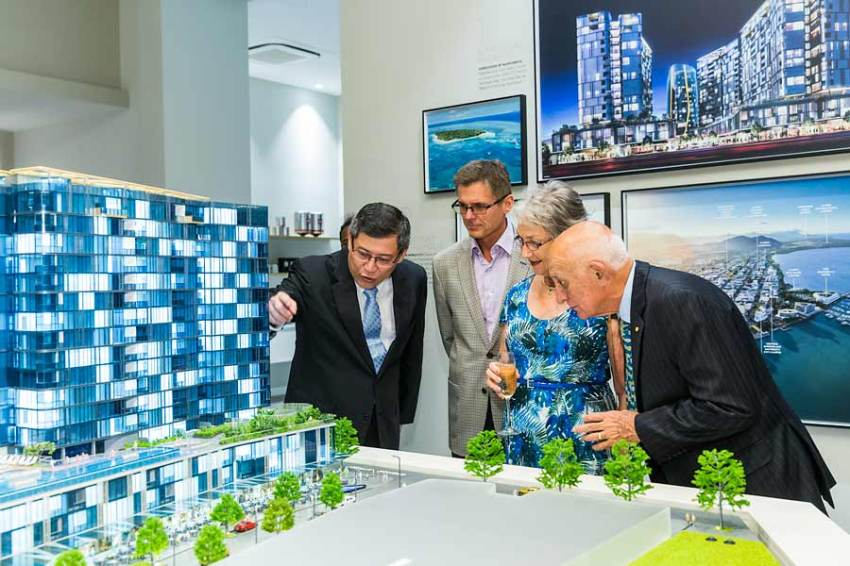 Image of guests viewing designs at Nova City Cairns Launch