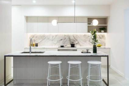 Image of Nova City Cairns display suite kitchen