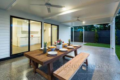Image of patio dining in MiHaven renovated home