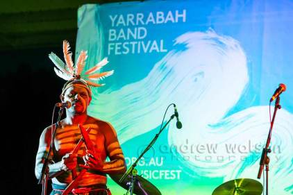 Image of performer at the Yarrabah Band Festival