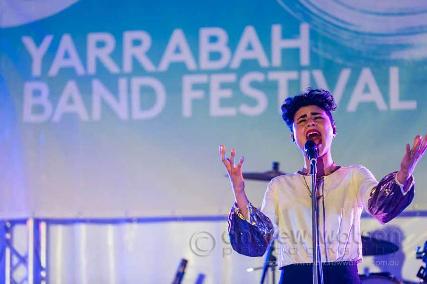 Image of Montaigne performing at Yarrabah Band Festival