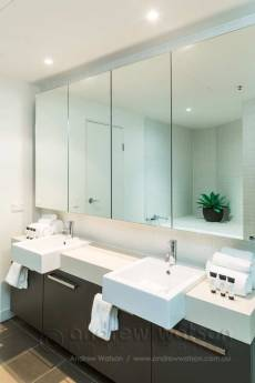 Image of apartment bathroom at Cairns Harbour Lights