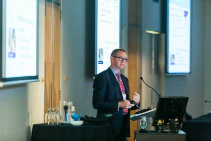 Image of speaker at ANZA seminars in Cairns