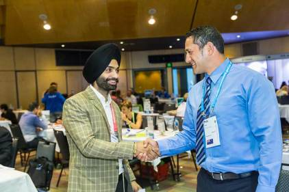 Image of delegates networking at ANZA Workshop in Cairns