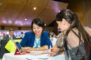 Image of delegates in business meetings at ANZA Workshop in Cairns