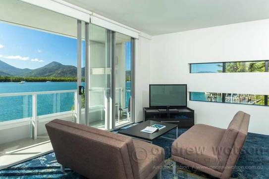 Image of hotel apartment with harbour views