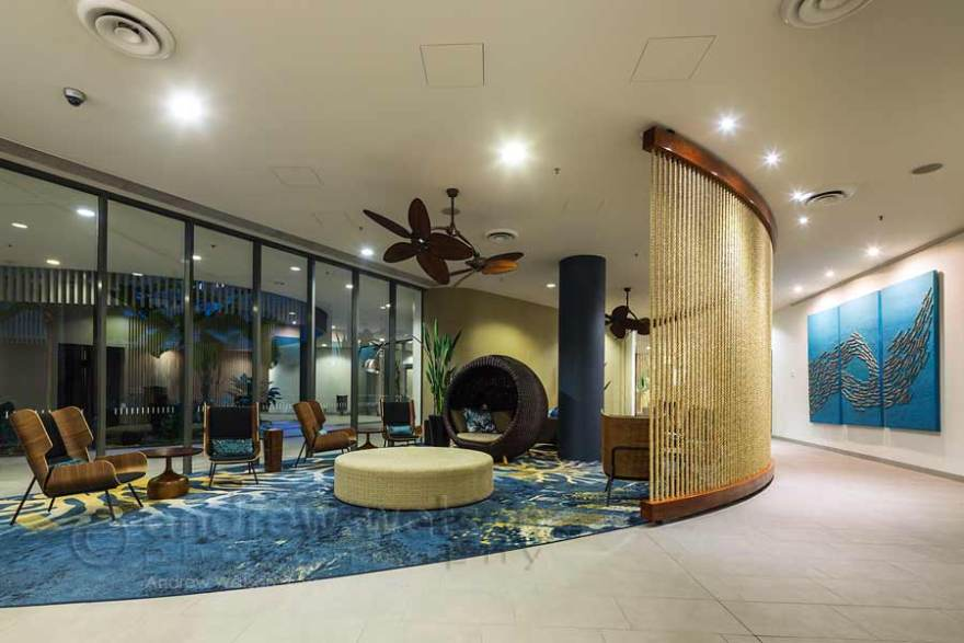 Image of foyer lounge at Cairns Harbour Lights