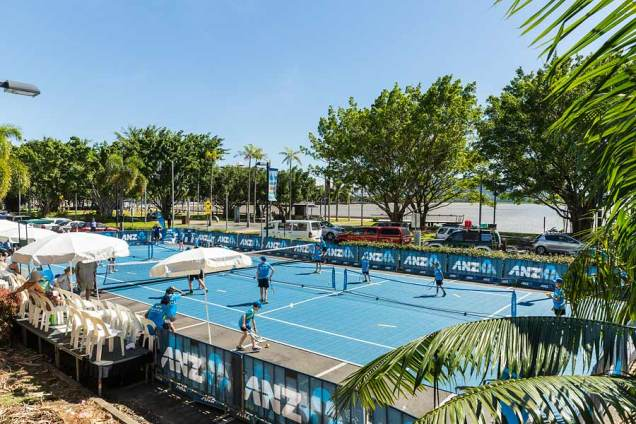 Image of ANZ kids tennis clinic in Cairns