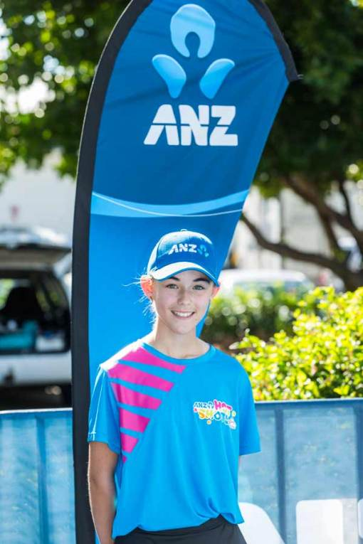 Image of ball girl on court at Cairns Charity Challenge