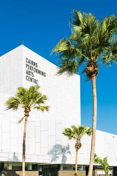 Exterior view of the Cairns Performing Arts Centre flytower