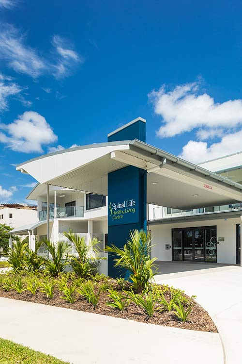 Exterior of the Spinal Life Healthy Living Centre building in Cairns