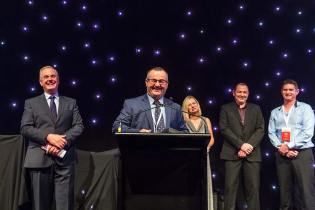 Award winners and management at at Bridgestone Tyres Conference gala dinner