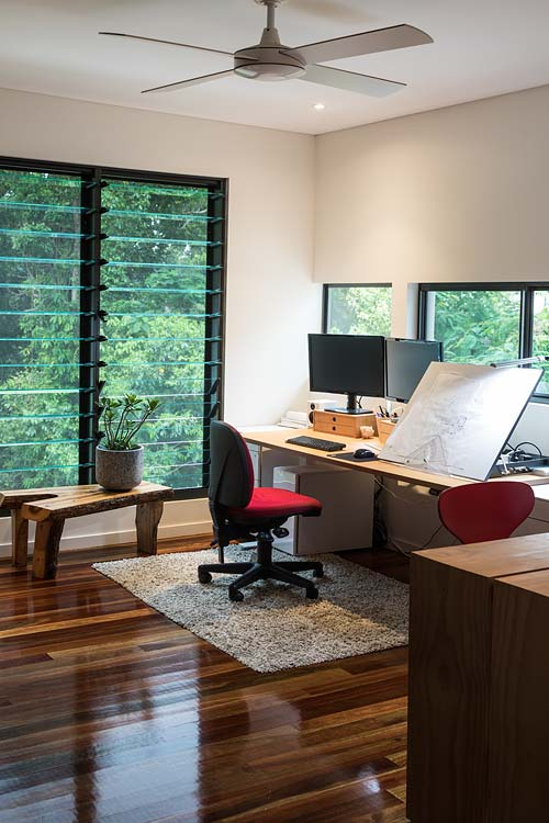 Interior of architect's home office in residential home