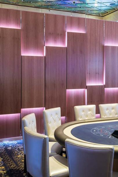 Interior of the Reef Hotel Casino executive gaming lounge