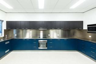 Interior of the Gordonvale Fire Station showing staff kitchen